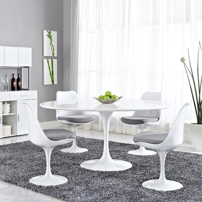 Julien Dining Table Size: 28.5 H x 60 W x 60 D