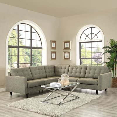 Empress Sectional Upholstery: Oatmeal
