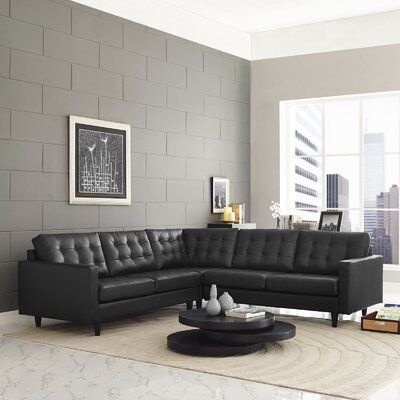 Princess Modular Sectional Upholstery: Black