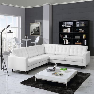 Princess Sectional Upholstery: White