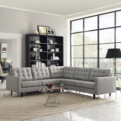 Empress Sectional Upholstery: Light Gray