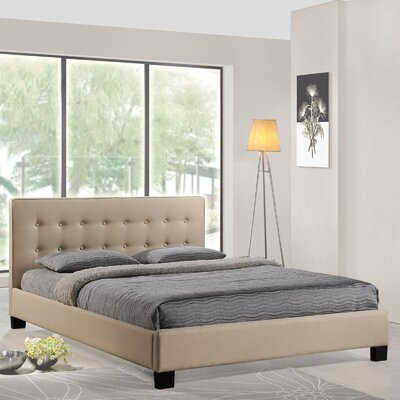 Caitlin Upholstered Platform Bed Size: Full, Color: Beige