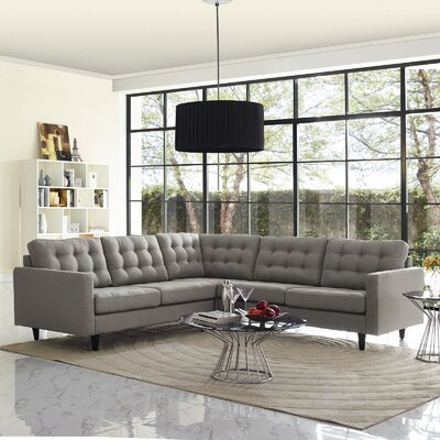 Empress Sectional Upholstery: Granite
