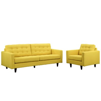 Princess Arm chair and Sofa Set Upholstery: Sunny