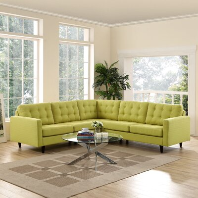 Princess Empress Sectional Upholstery: Wheatgrass