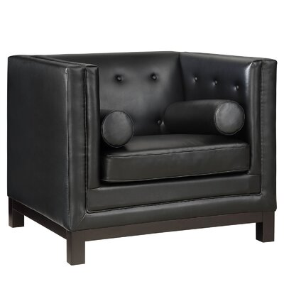 Stately Club Chair Upholstery: Black