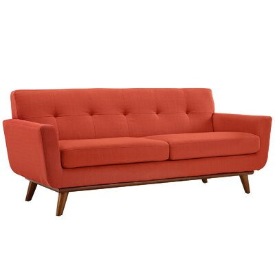 Saginaw 2 Piece Living Room Set Upholstery: Atomic Red