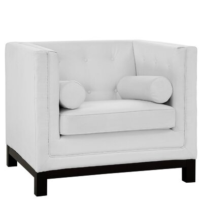 Stately Club Chair Color: White