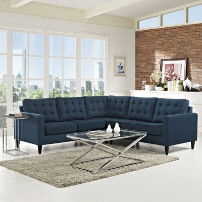 Princess Empress Sectional Upholstery: Azure