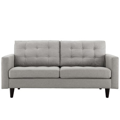 Warren Loveseat Upholstery: Light Gray
