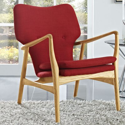Care Armchair Upholstery: Birch/Red
