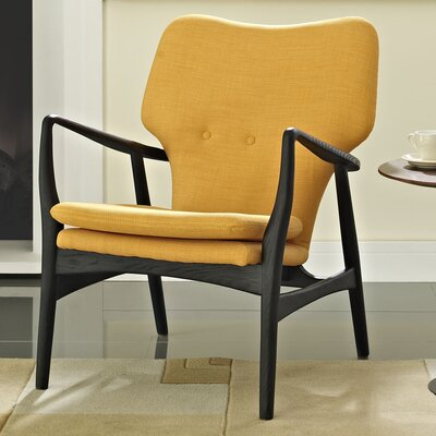 Care Armchair Upholstery: Black/Yellow