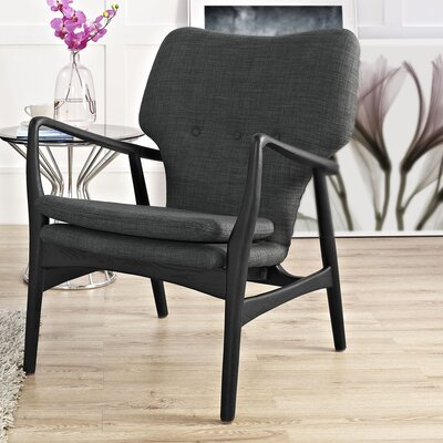 Care Armchair Upholstery: Black/Gray