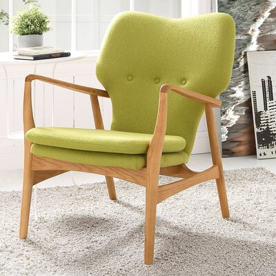 Care Armchair Upholstery: Birch/Green