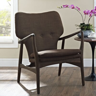 Care Armchair Upholstery: Walnut/Brown