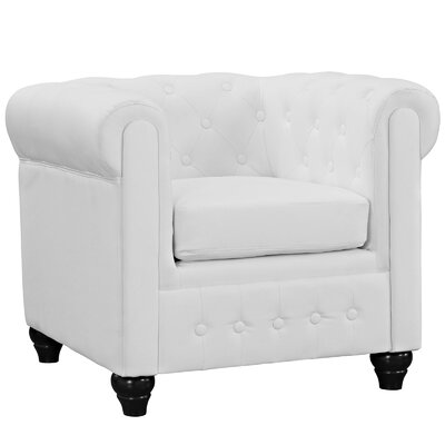 Earl Armchair Upholstery: White
