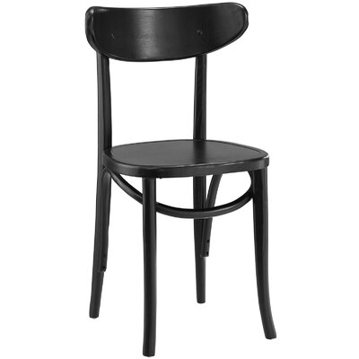 Skate Solid Wood Dining Chair Color: Black