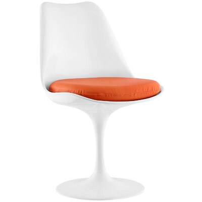 Gracie Side Chair Upholstery: Orange