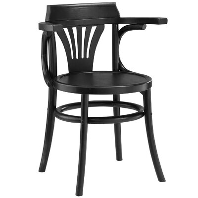 Stretch Solid Wood Dining Chair Color: Black