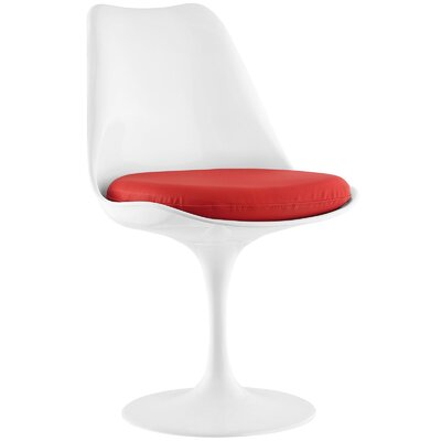 Lippa Side Chair Upholstery: Red