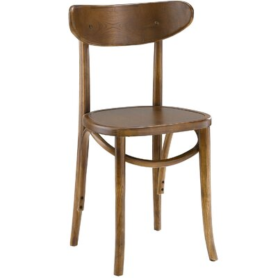 Skate Solid Wood Dining Chair Finish: Walnut