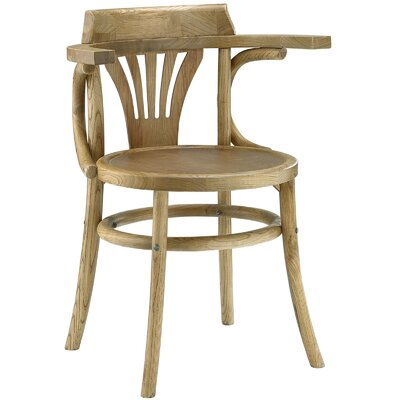 Stretch Solid Wood Dining Chair Color: Natural