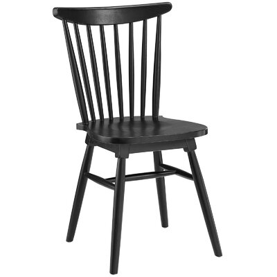 Amble Solid Wood Dining Chair Finish: Black
