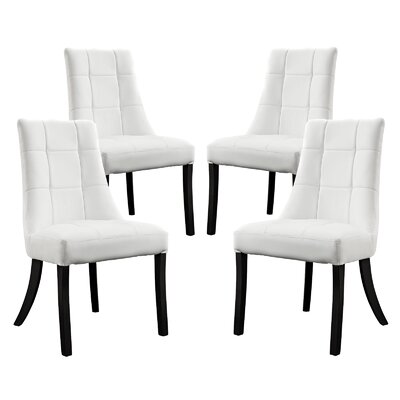 Noblesse Side Chair Upholstery: White