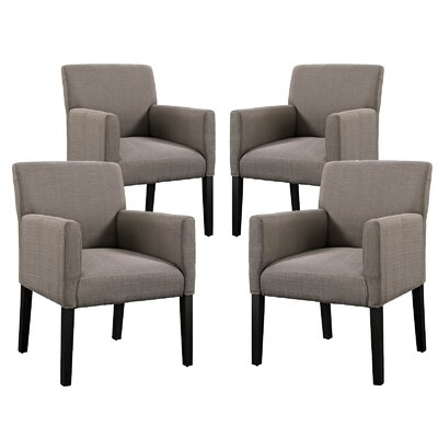 Chloe Arm Chair Upholstery: Grey