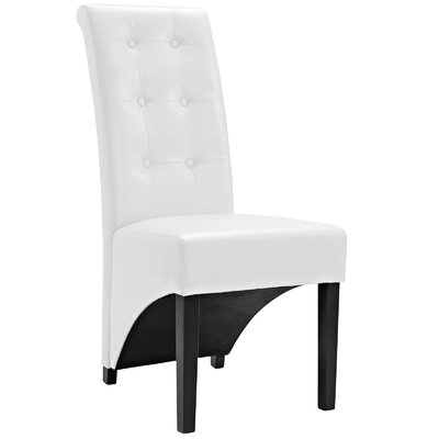 Preside Side Chair Upholstery: White