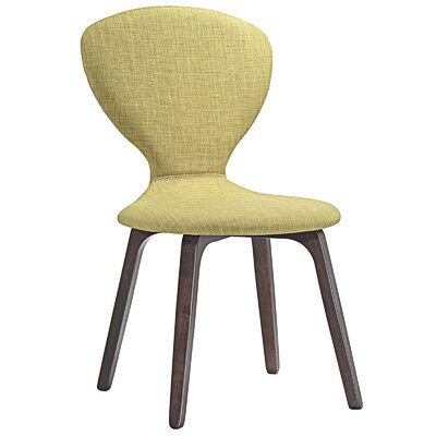 Tempest Side Chair Upholstery: Walnut Green