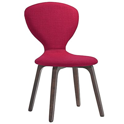 Tempest Side Chair Upholstery: Walnut Red