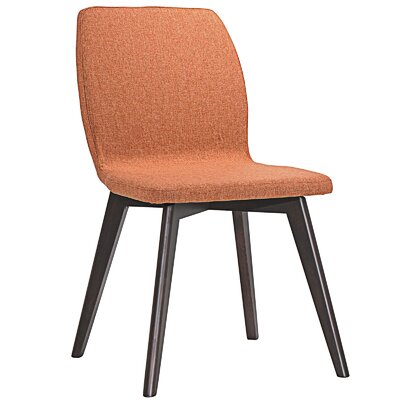 Proclaim Dining Side Chair Upholstery: Walnut Orange