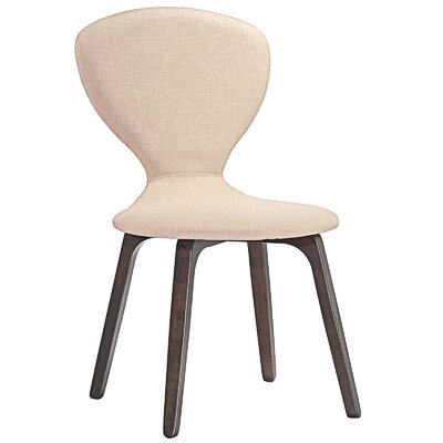 Tempest Side Chair Upholstery: Walnut Beige