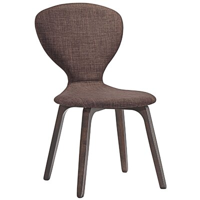 Tempest Side Chair Upholstery: Walnut Brown