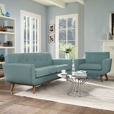 Saginaw 2 Piece Living Room Set Upholstery: Laguna