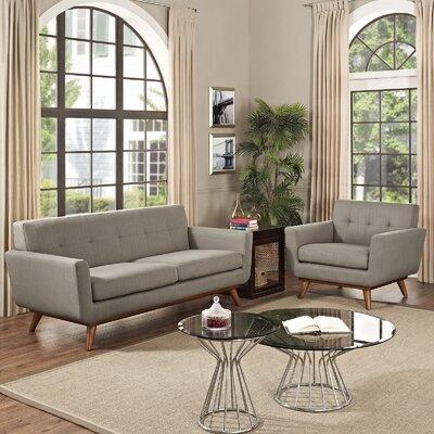 Saginaw 2 Piece Living Room Set Upholstery: Granite