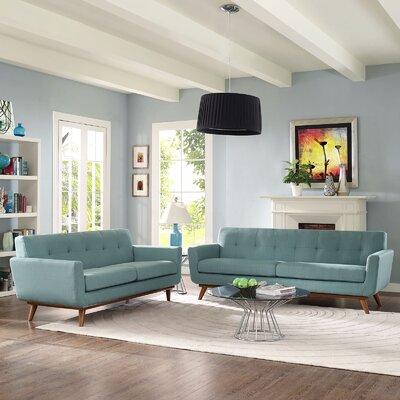 Saginaw 2 Piece Living Room Set Upholstery: Laguna