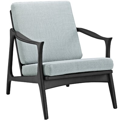 Pace Armchair Upholstery: Black / Light Blue