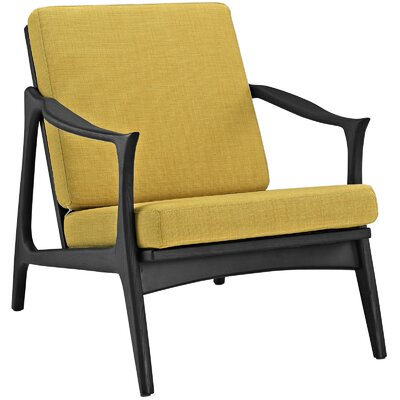 Pace Armchair Upholstery: Black / Yellow