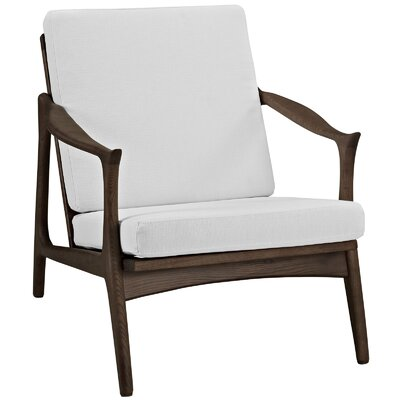 Pace Armchair Upholstery: Walnut / White