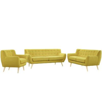 Modway EEI-1782-SUN-SET Remark 3 Piece Living Room Set Upholstery