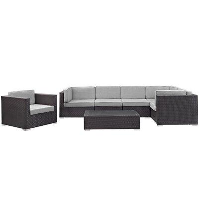 Corona 7 Piece Deep Seating Group with Cushions