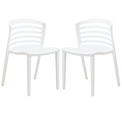 Predmore Plastic Side Chair Upholstery: White