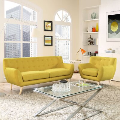 Modway EEI-1784-SUN-SET Remark 2 Piece Living Room Set