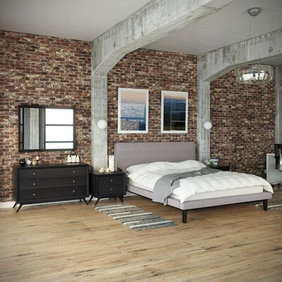 Bethany Platform 4 Piece Bedroom Set Color: Grey