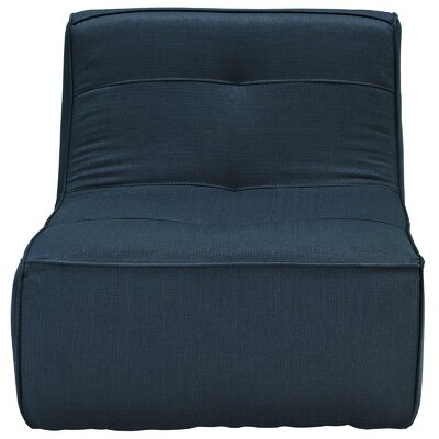 Align Upholstered Slipper Chair Upholstery: Navy