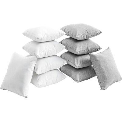 Convene 10 Piece Outdoor Throw Pillow Set Color: White/Grey