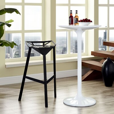 Albaugh Bar Stool Color: Black