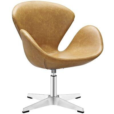 Flight Vinyl Lounge Chair Color: Tan